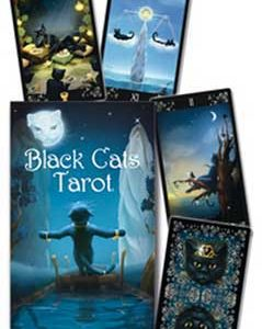 Black Cats tarot by Maria Kurarai