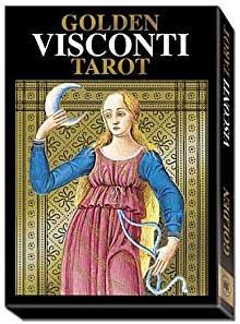Golden Visconti tarot deck